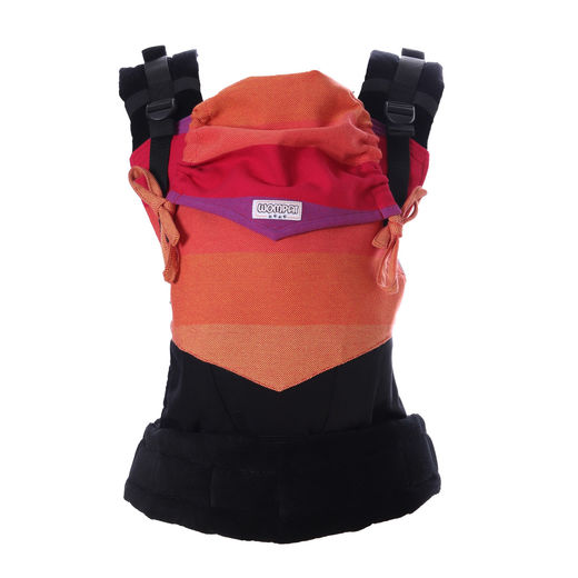 Wompat ILO baby carrier Rainbow red